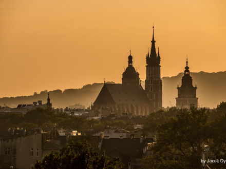 Krakow view at St Mary church