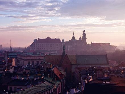 Krakow misty view