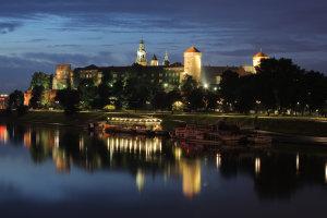 Wawel Castle by night