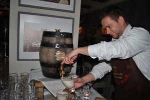 barrel opening at Brovarnia