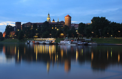 Wawel seen from Vistula river